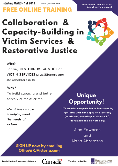 FREE Restorative Justice & Victim Services Online Course by